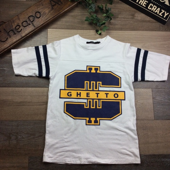 "Joyrich Tops - JOYRICH women's short sleeve size S ""GHETTO"""